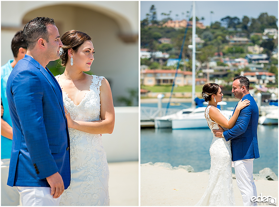 San Diego elopement on the beach.