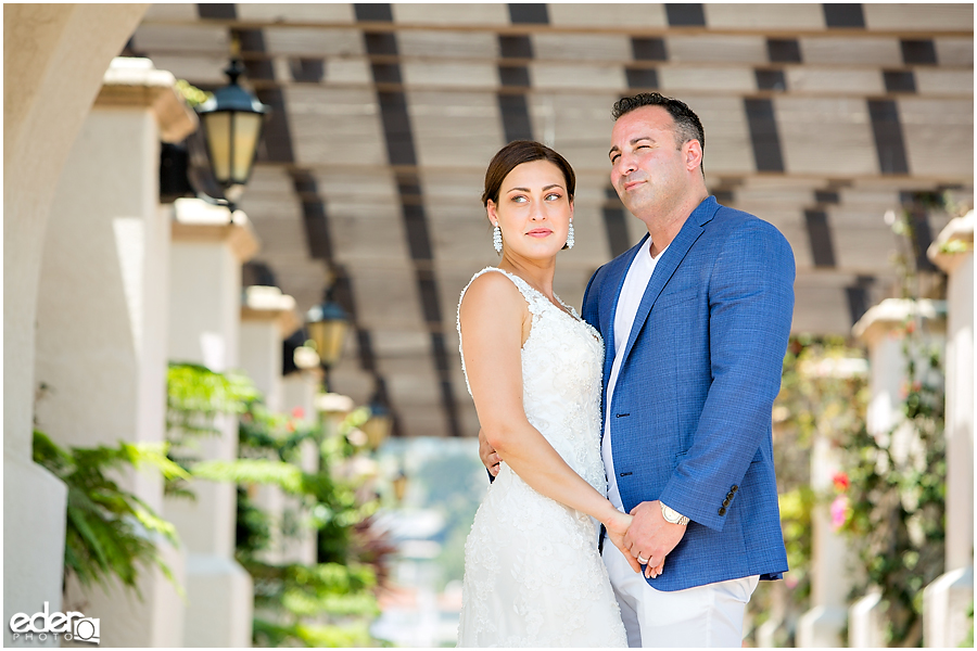 Bride and groom elopement portraits in San Diego.