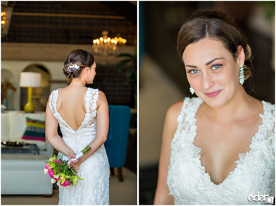 Bride portraits during elopement at the Kona Kai Resort in San Diego, CA.