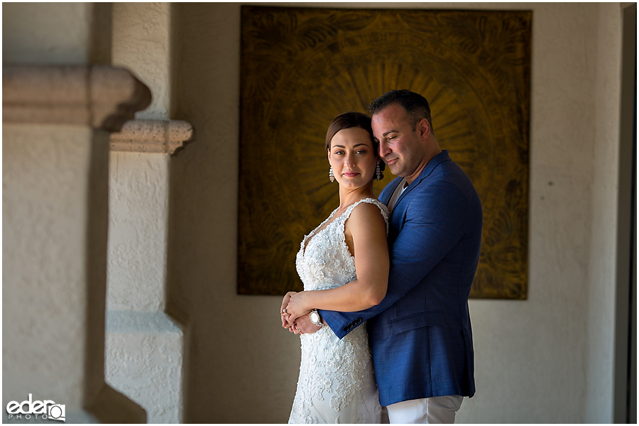 Elopement photography at the Kona Kai Resort in San Diego, CA.