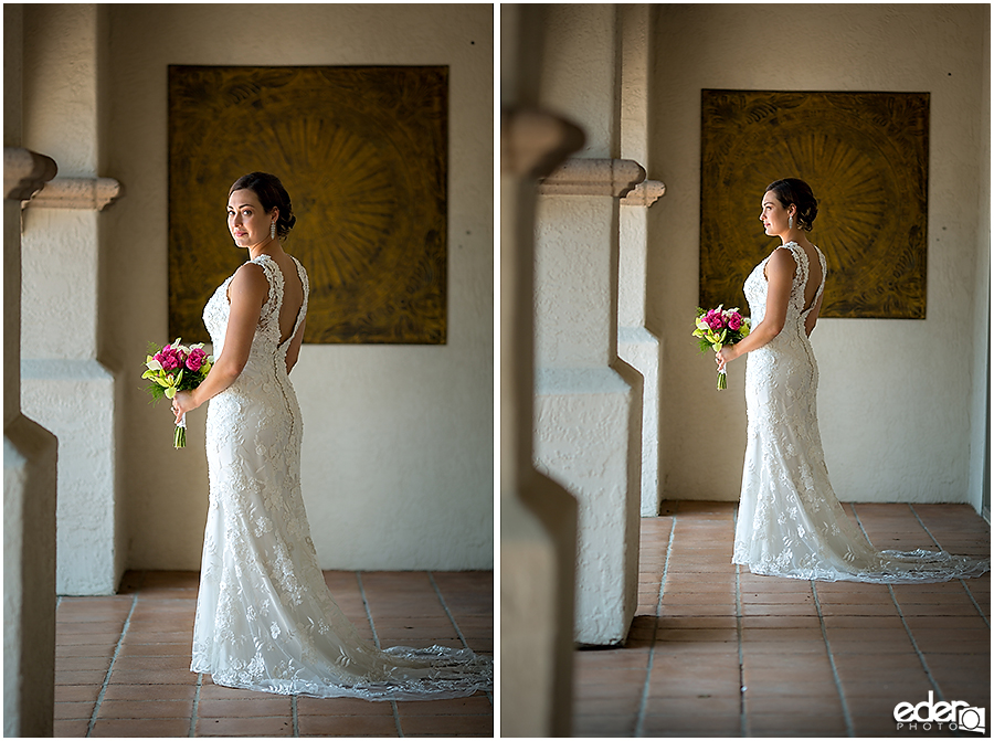 Bridal portraits for elopement at the Kona Kai Resort in San Diego, CA.