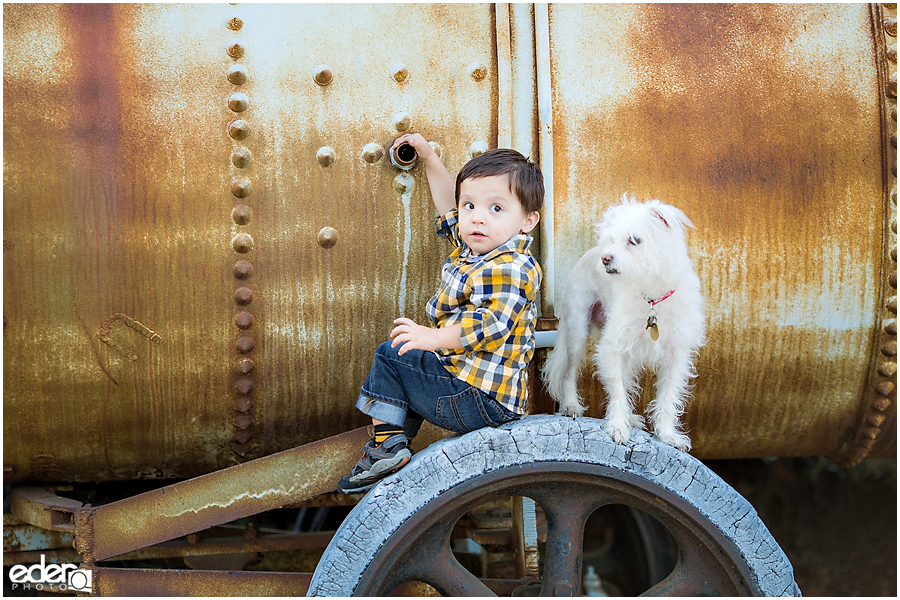 Child and dog portraits