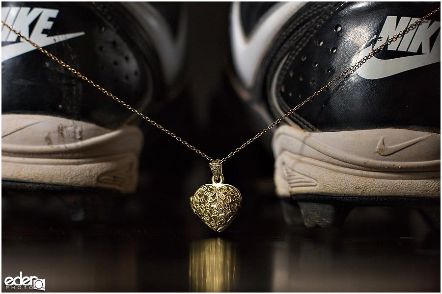 Wedding jewelry for baseball themed wedding