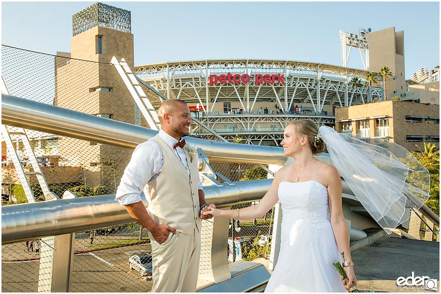 Petco Park wedding photos.