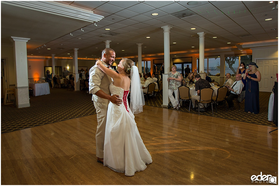 First dance at Admiral Kidd Club Wedding.