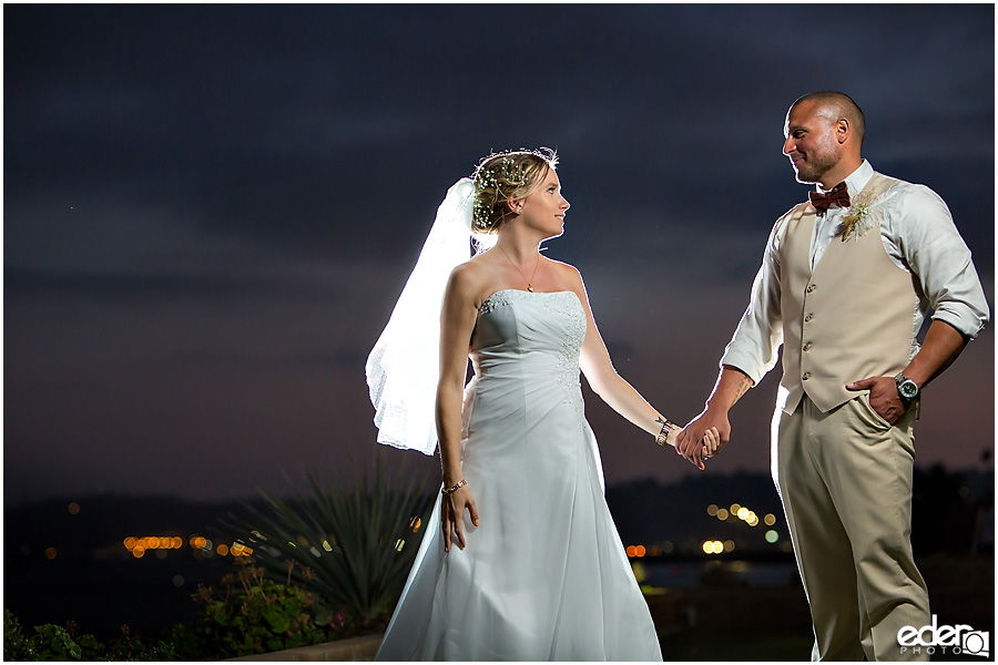 Couple photos at at Admiral Kidd Club Wedding.