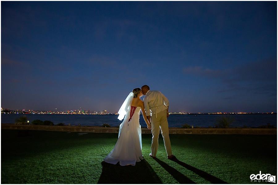 Night wedding photos at Admiral Kidd Club Wedding.