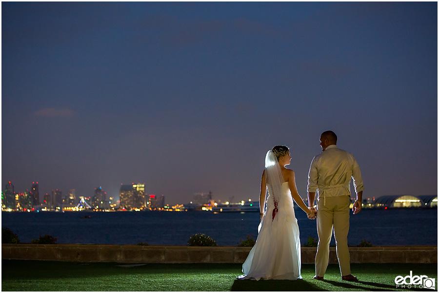 Night wedding photo at Admiral Kidd Club Wedding.