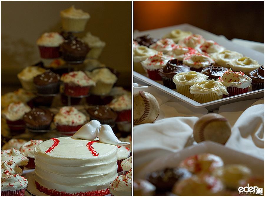 Wedding cupcakes at Admiral Kidd Club Wedding.