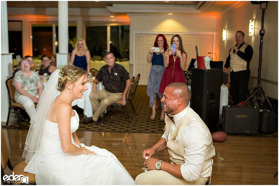 Garter toss at Admiral Kidd Club Wedding.
