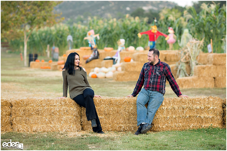 Pumpkin Patch Engagement Session in Escondido