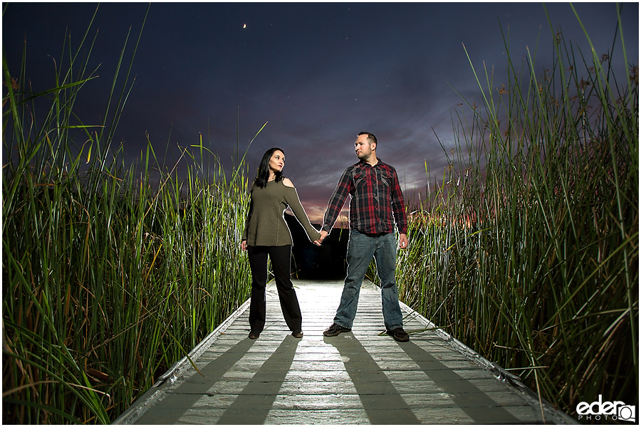 Night time engagement photos in Escondido CA