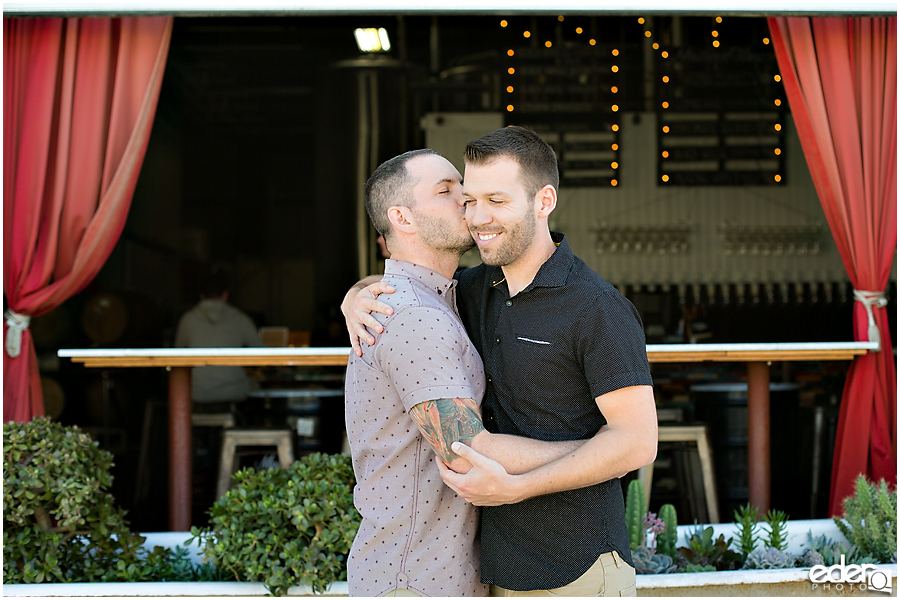 Same sex engagement session photography.