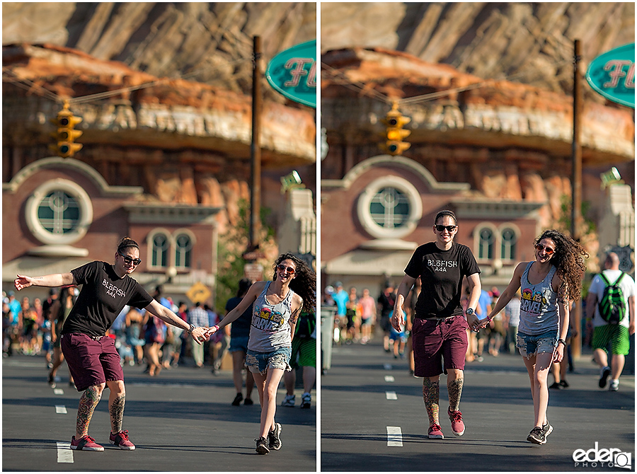 Cars land engagement session.