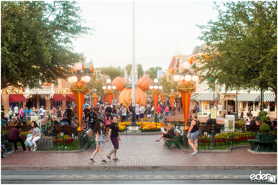 Disneyland Main Street on Halloween Time.