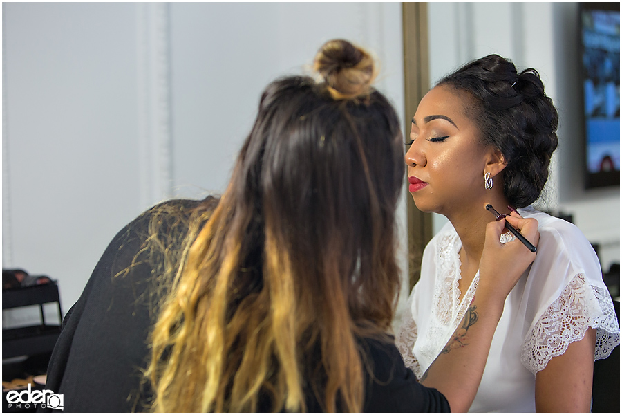 Bridal makeup at The US GRANT