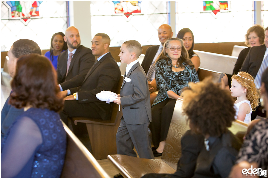 Ring bearer at All Hallows Catholic Church