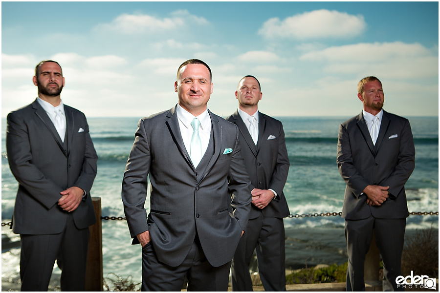 La Jolla Wedding photography of groomsmen.