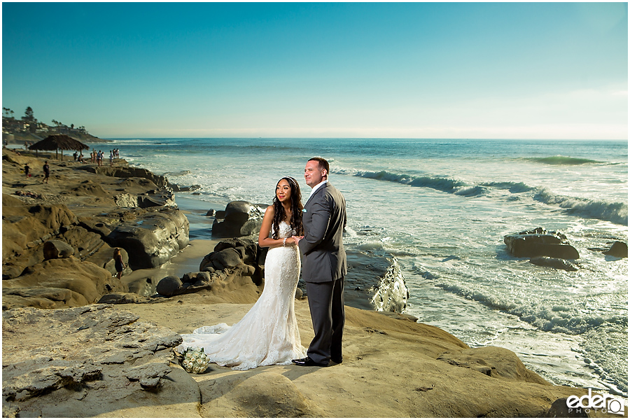 Bride and groom photos in La Jolla.