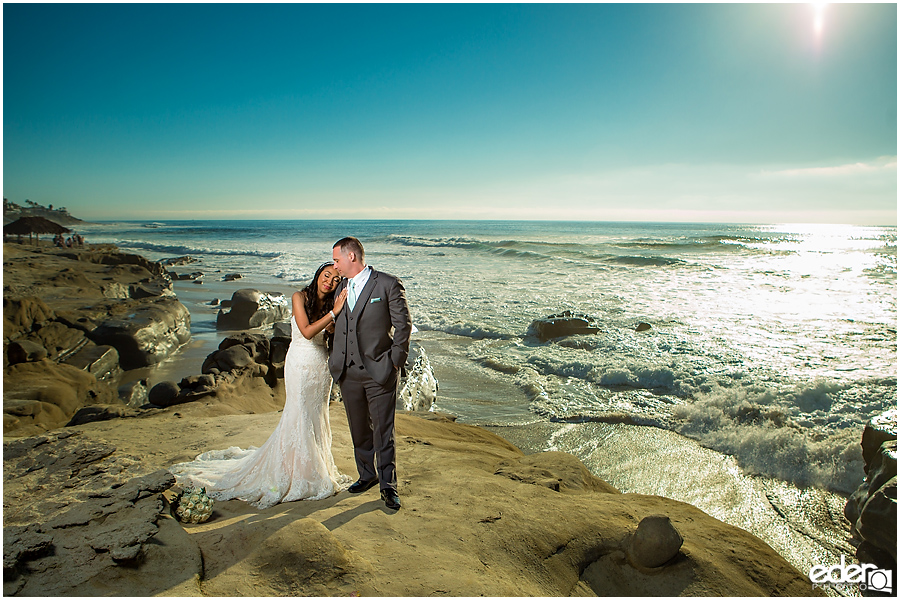La Jolla beach wedding photography.