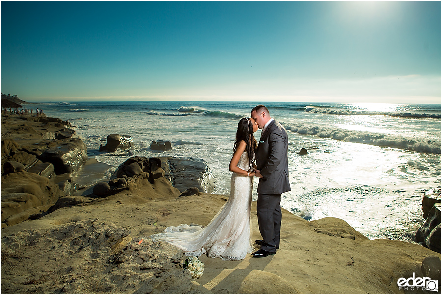 San Diego beach wedding photography.