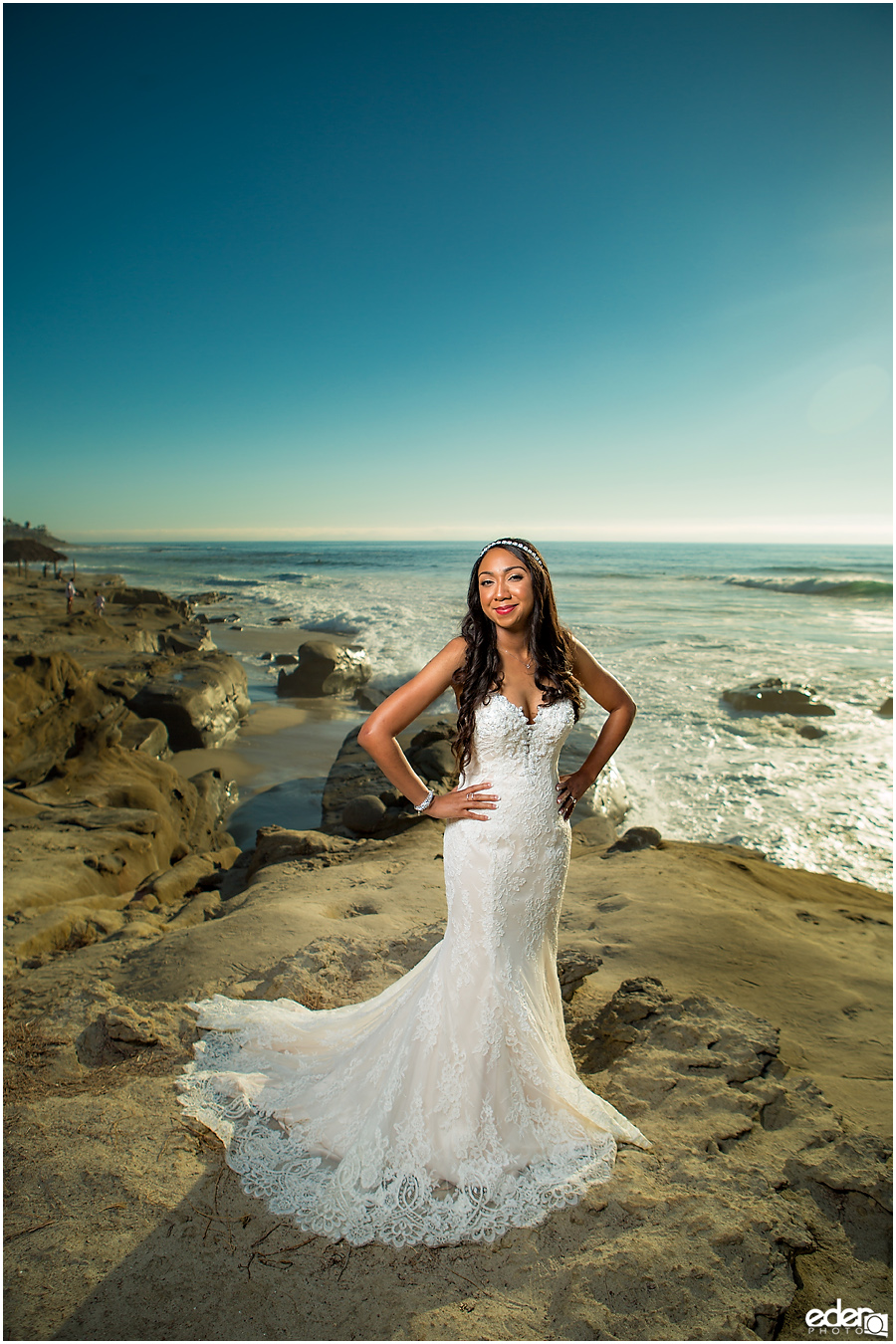 Bridal portrait photography in La Jolla.