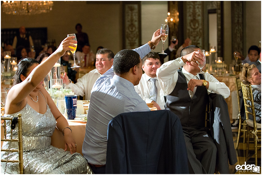 Toast in Crystal Ballroom Wedding Reception