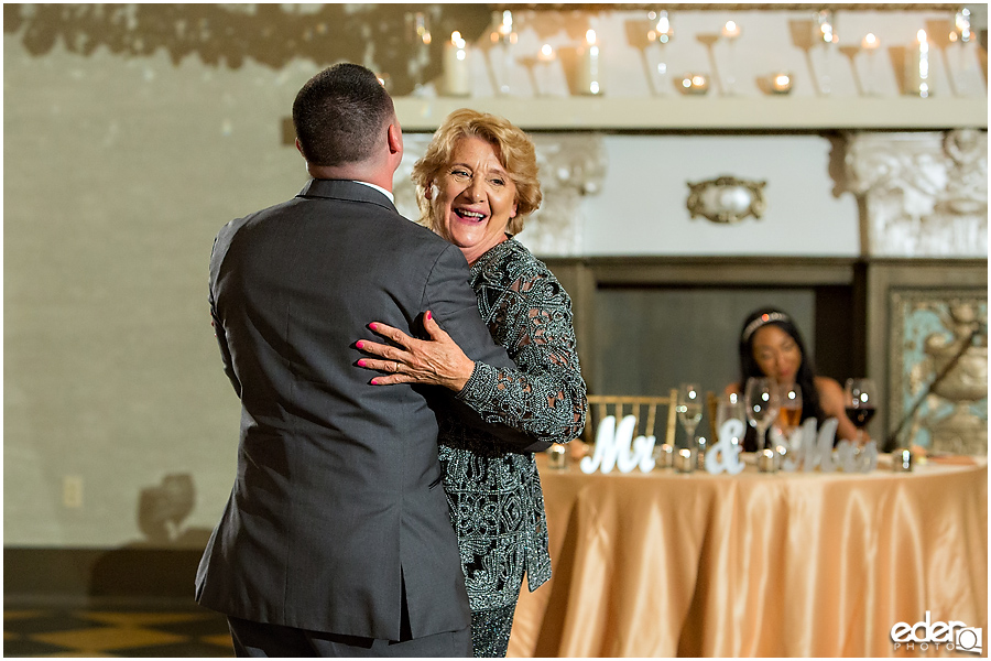 Mother son dance Crystal Ballroom Wedding Reception