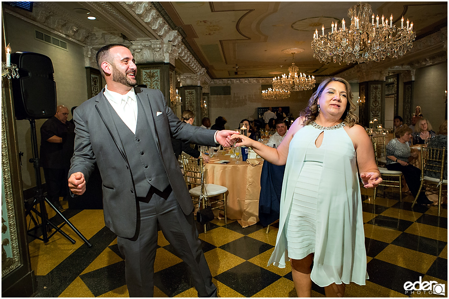 Dancing in Crystal Ballroom Wedding Reception