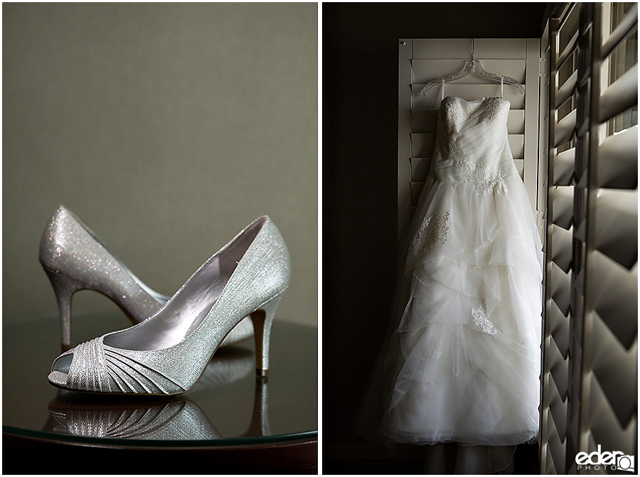 Wedding dress and shoes in Point Loma