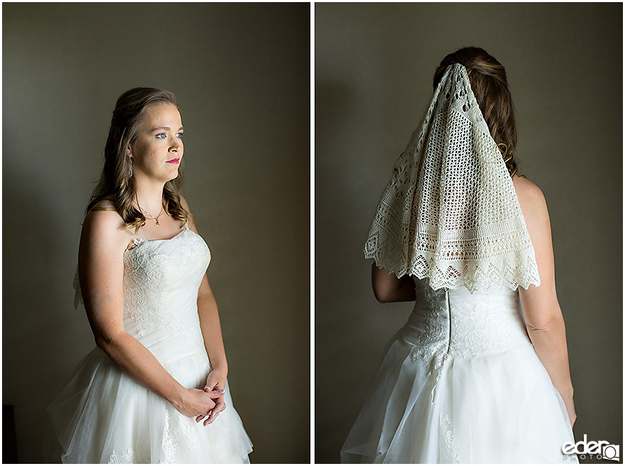 Bride portraits before wedding at Shelter Island.