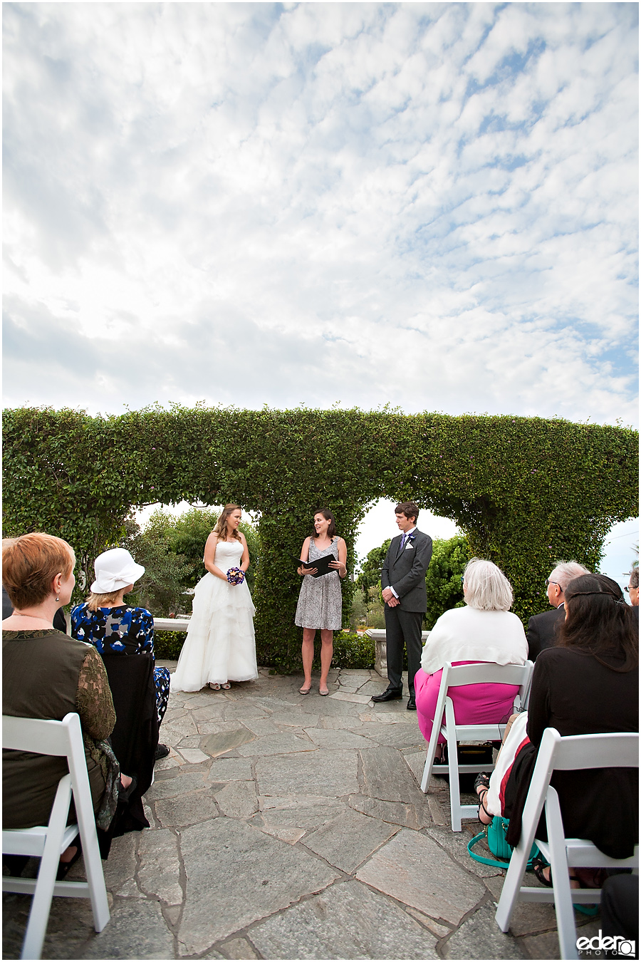 Blue sky over Thursday Club Wedding Ceremony