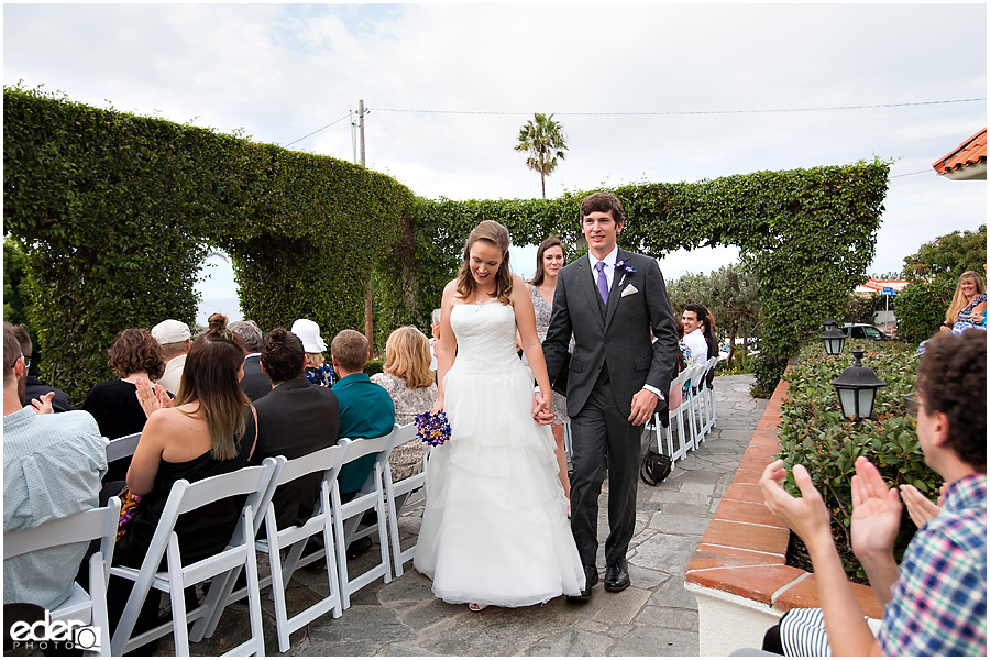 Recessional at Thursday Club Wedding Ceremony