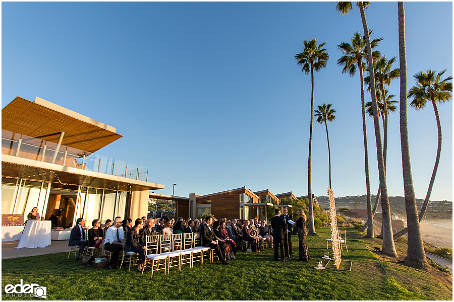 Wedding ceremony at Scripps Seaside Forum.