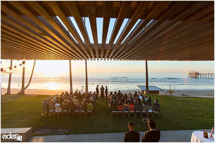 Ceremony Scripps Seaside Forum Wide Angle View Of At