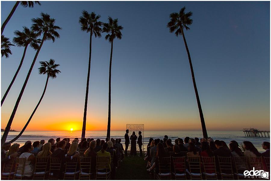 Scripps Seaside Forum sunset ceremony.