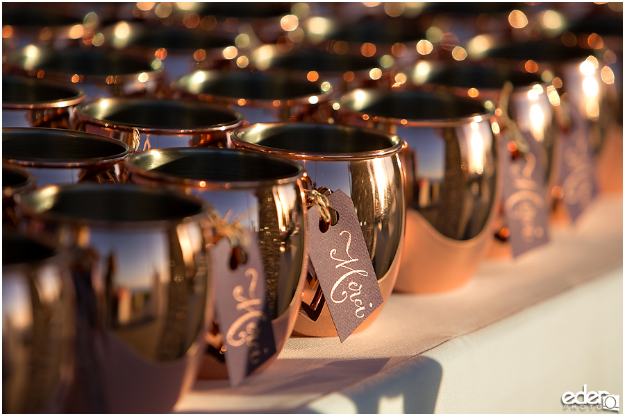 Mule copper mugs for wedding.
