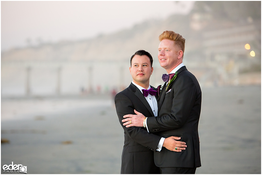 Scripps Seaside Forum wedding portraits.