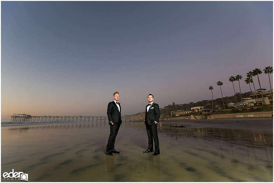 Gay wedding creative photography.