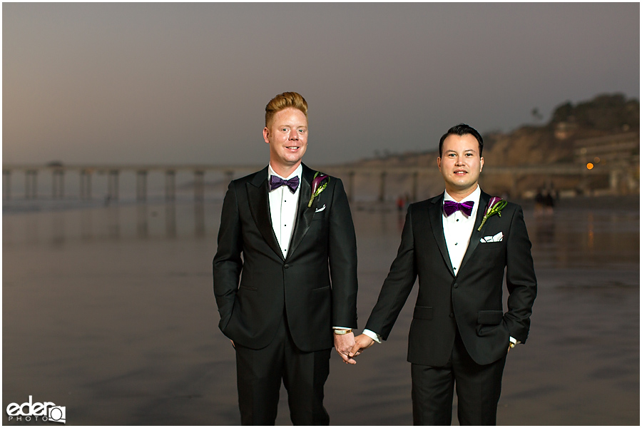 Gay wedding photos in La Jolla CA.