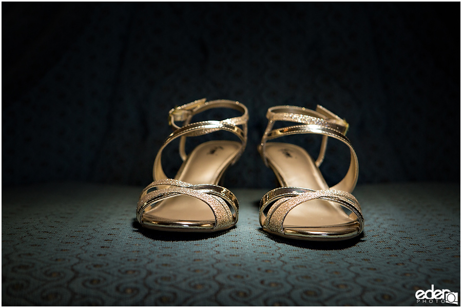 Wedding shoes at The Lafayette Hotel