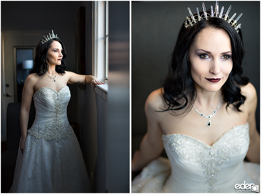 Bride portraits at The Lafayette Hotel