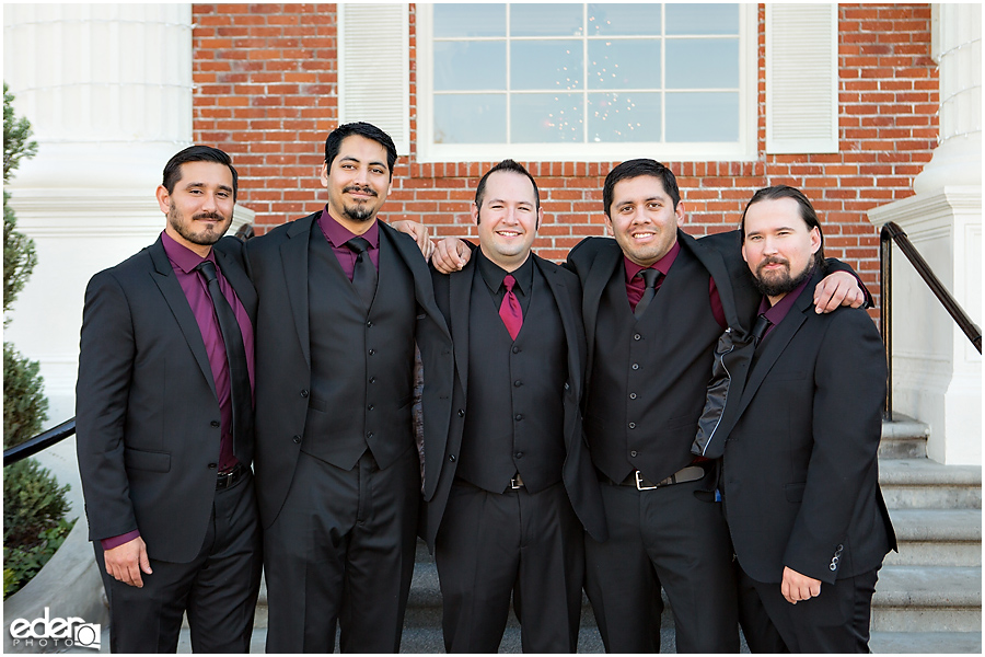 Groomsmen at The Lafayette Hotel