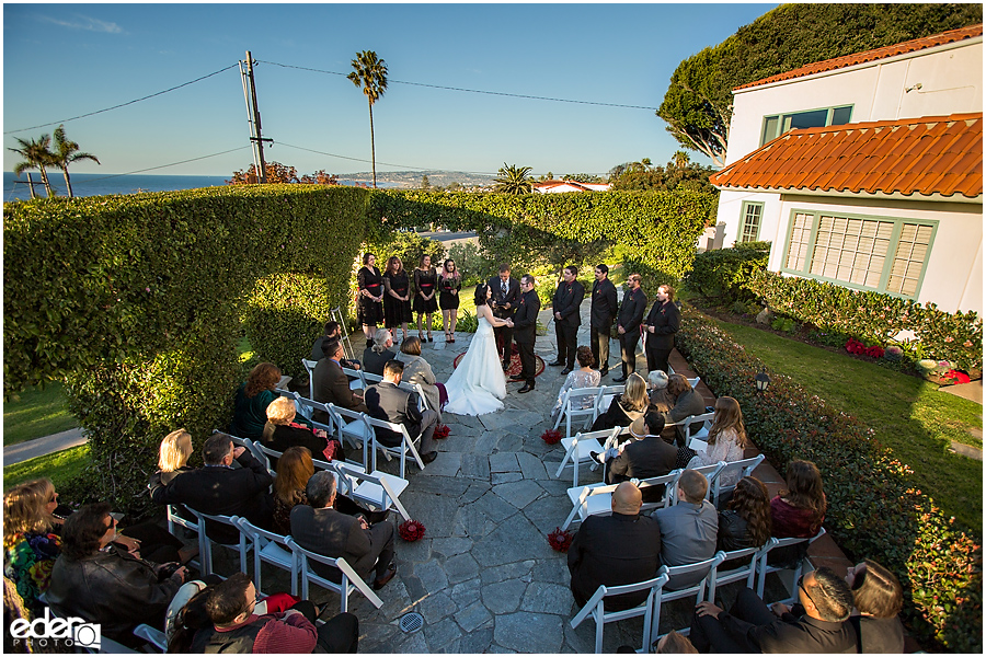 Wedding ceremony at The Thursday Club