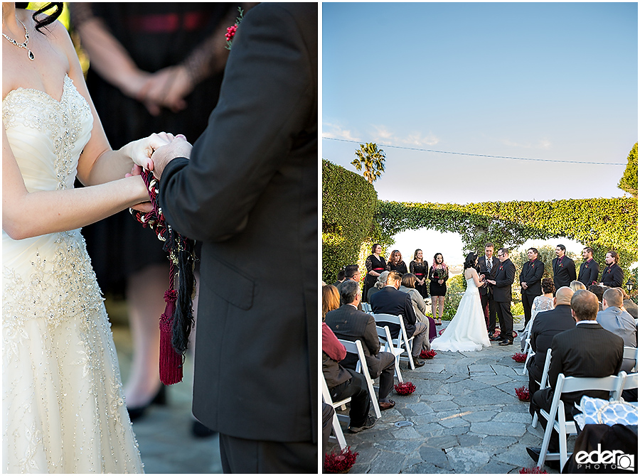 Handfasting during wedding