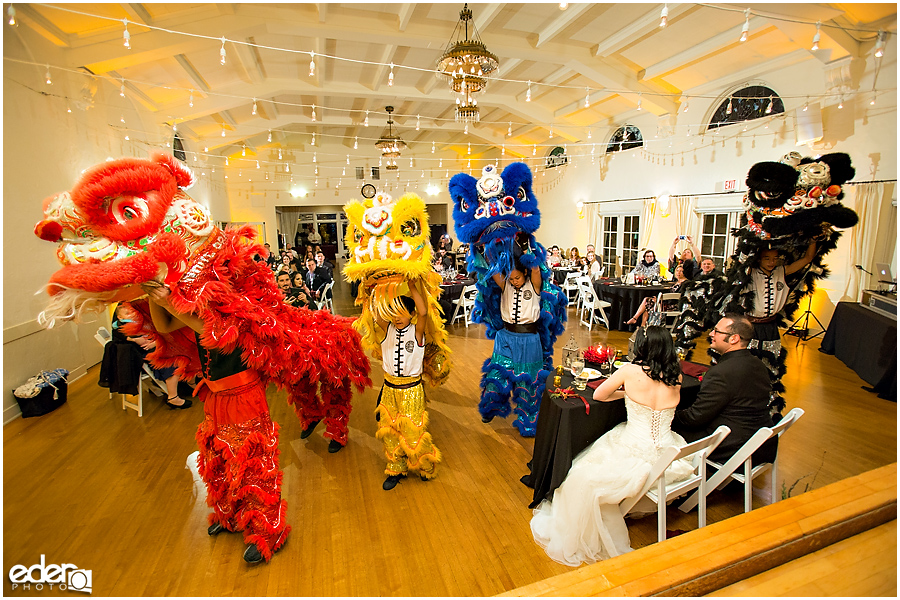 Traditional Dragon Dancers at The Thursday Club