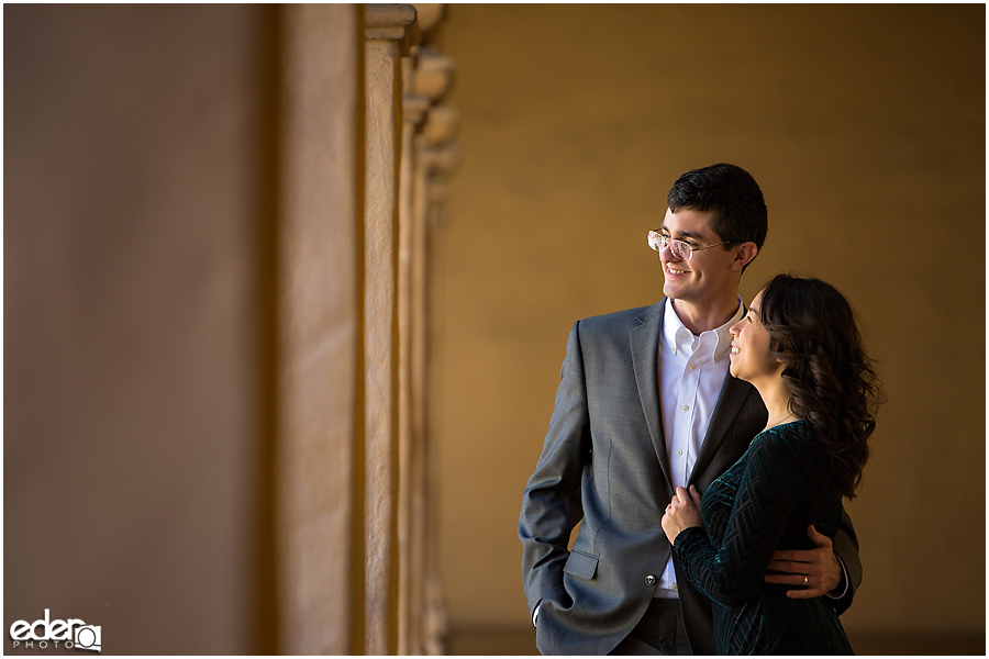 Courthouse Wedding photos in Balboa Park.