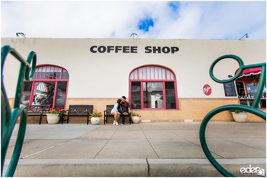 Coronado Coffee Shop Engagement Session