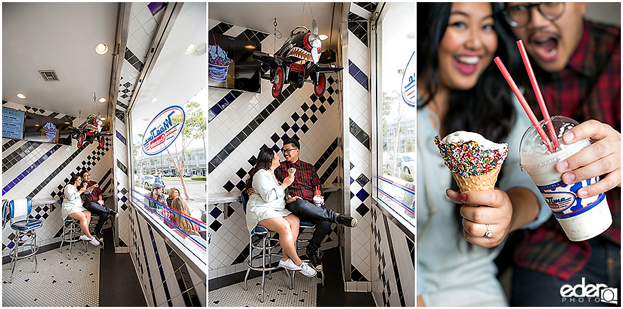 Coronado Engagement Session at Mootime indoor photos