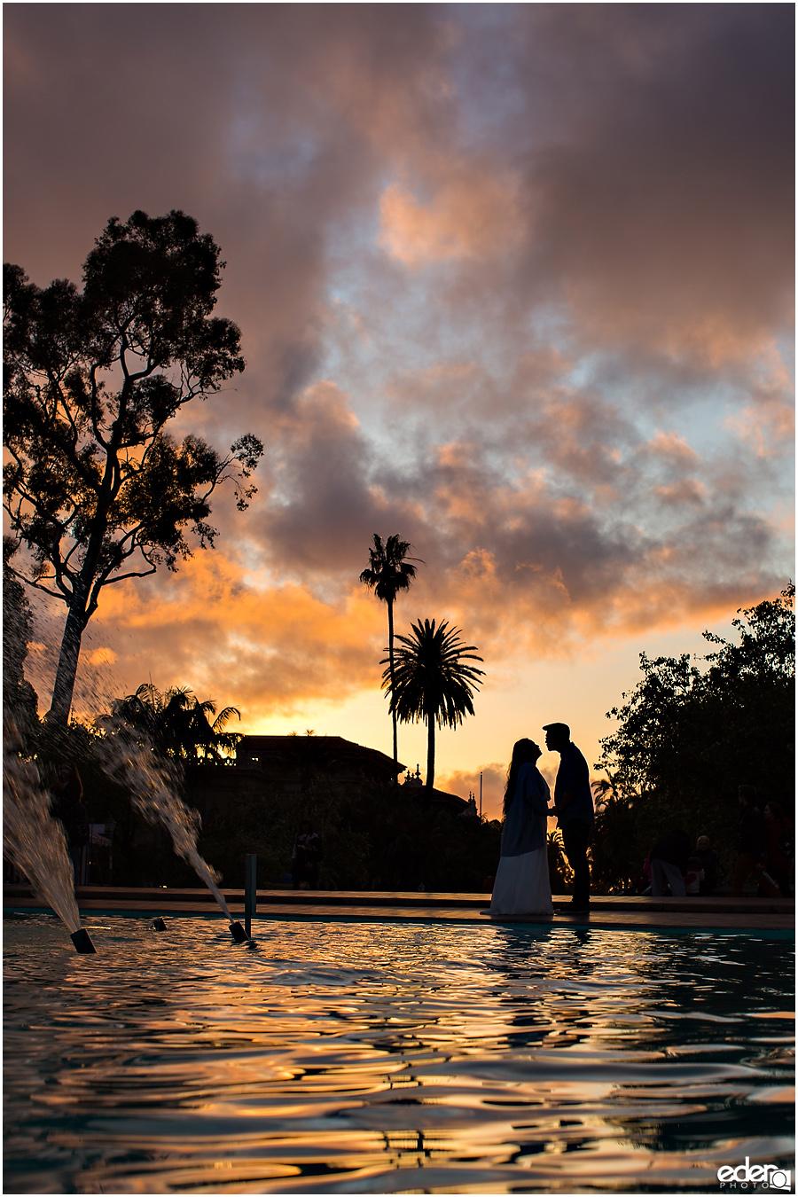 Sunset photo of Balboa Park